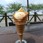 伊豆手作り菓子工房グリーンヒル土肥 - 【2012.7追加写真】『びわアイスクリーム』 ¥350
