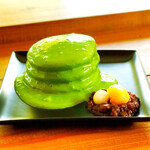 cafe LUKE - ルークのパンケーキ 西尾の抹茶