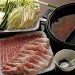 和三八 - アグー豚しゃぶ鍋  一人前2520円(*二人前より承ります。)