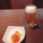 遊食酒蔵 味源 - お通し(肉味噌大根)/ちょい生