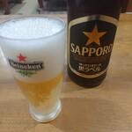 キッチン美味小家 - ビール(サッポロ黒ラベル・中瓶)