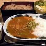佑次庵 - 和風カレーライスと山形蕎麦(1,180円)