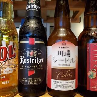 週替わりのクラフトビール・シードル