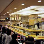 回し寿司 活 - 店内の様子。