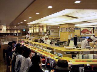 回し寿司 活 西武池袋店 - 店内の様子。