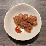 梅田食堂 - ちょいとセット ¥1,500 の名物キモ焼き(少)