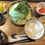 獅子丸 - もつ鍋定食@1,298円