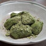 藤菜美 - 付属の抹茶粉トッピング
