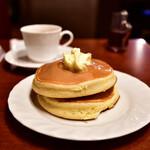 サンシャイン - 【ホットケーキセット@780円】ホットケーキ:ほぼ初期状態