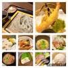 へぎそば昆 - 料理写真:へぎそばと天ぷら付き