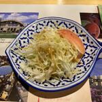 ナムチャイ 岡崎 - グリーンカレーに付いてきたサラダ