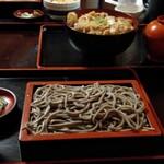 蕎傳 - 田舎蕎麦 小もりとカツ丼
