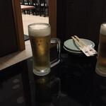 良酒屋 握 - ドリンク写真:とりあえず生(キリン)