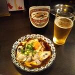 和泉屋 - 牡蠣酢にビール