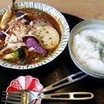 そば切り 高陣 - 料理写真:チキンスープカレー