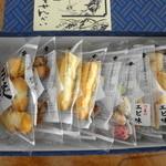 川美せんべい - 3種類のお煎餅が詰め合わさってます