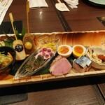 京都のうまいもんとおばんざい 市場小路 - 京三昧 おばんざい盛り合わせ