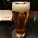 京都のうまいもんとおばんざい 市場小路 - 極冷え一番搾り