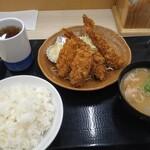 かつや - 秋の海鮮フライ定食 クーポン利用(100円引)659円(税込)