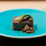 炭火割烹 いふき - 水羊羹 岩梨 奄美の生黒糖