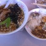 14117692 - 醤油ラーメン&ミニ麻婆丼