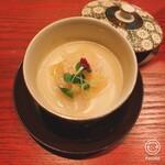 居酒屋 たぬき - ホタテのグラタン風スープ