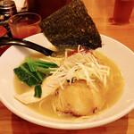 三代目麺処まるは極 - 純鶏ホタテ塩ラーメン(税込850円)