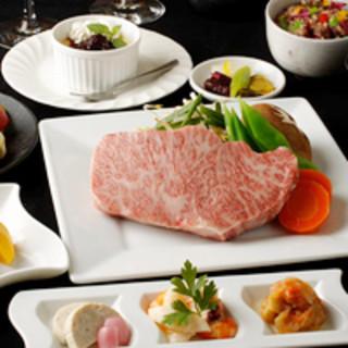 有機野菜・和牛・シーフード、その日の気分でお選び下さい。
