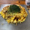お好み焼 キャベツ - 料理写真:お好み焼き、そばダブル玉子。