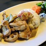 spoony cafe - 若鶏と根野菜の味噌ジンジャープレート