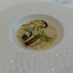 141211712 - 本日のアロスカルドソ ヒオウギ貝の雑炊