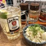 肉汁餃子と煮込みの酒場。しんちゃん - 大根の鬼おろしポン酢