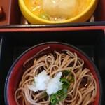 お食事処 若林 - カニあんかけ豆腐と蕎麦