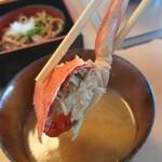 お食事処 若林 - 親蟹の味噌汁