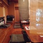 魚虎千両 - 隣席とは簾で区切ってます