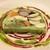Cafe Noisette - 季節野菜のテリーヌ仕立て三種のビネグレット 周りをキャベツで包んだテリーヌには、野菜がギュッと盛りだくさん♪ ゴボウ・人参・オクラ・椎茸・ズッキーニ・ヤングコーン・マコモダケなどに、三種類のフレンチドレッシングで楽しみます♪