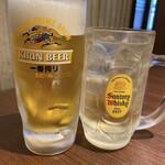 141249066 - 生ビール 中 580円                         角ハイボール 490円
