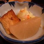 しうまい家 松富 - 小鉢のポテサラがニクイ出来ばえ