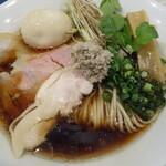 だし廊 -NIBO- - 仙台せり×比内地鶏のきりたんぽ風ラーメン