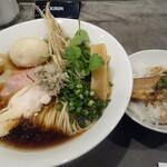 だし廊 -NIBO- - 仙台せり×比内地鶏のきりたんぽ風ラーメン+かばやきごはん