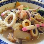 麺や 竜の字 - 長崎海鮮ちゃんぽん。具の中にカボチャがあるのは初めて見ました。