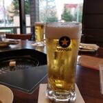サッポロビール園 ビヤカフェ・ライラック - ドリンク写真:サッポロファイブスターで(^_^)/□☆□\(^_^)