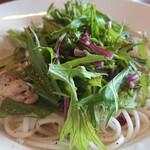 かくれん穂゛ - 赤水菜が新鮮!