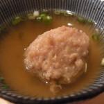 14129351 - お通し 合鴨つくねのスープ