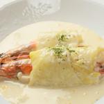 ラグーン - 天使海老とホタテのロールキャベツ[680円]魚介の美味しさをキャベツに包んでお出し致します。