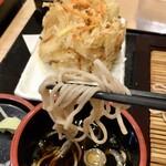 かき天 - 野菜かき揚げ+蕎麦490円