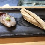 祇園ゆやま - 握りはのどぐろと明石の穴子
