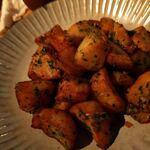 なっぱjuicy - ほくほくのジャガイモ揚げ(あおさと塩辛和え)