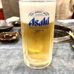 秋元 - 生ビール 中ジョッキ 660円