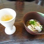 割烹 うえの - 料理写真:1.梅酒と雲子